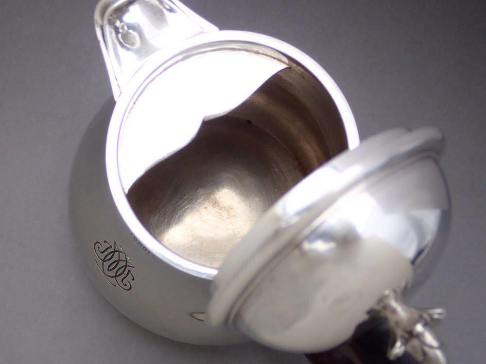 ピュイフォルカ/Puiforcat 純銀無垢 重厚 コーヒーポット_画像7