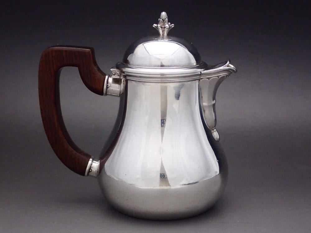 ピュイフォルカ/Puiforcat 純銀無垢 重厚 コーヒーポット_画像2