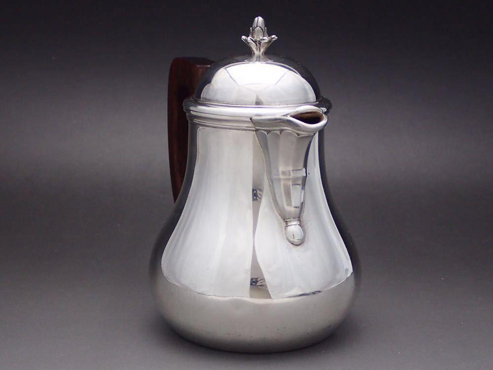 ピュイフォルカ/Puiforcat 純銀無垢 重厚 コーヒーポット_画像3