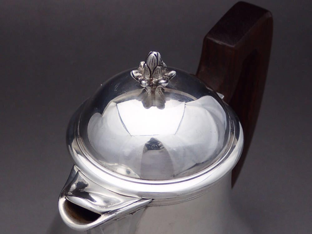ピュイフォルカ/Puiforcat 純銀無垢 重厚 コーヒーポット_画像5
