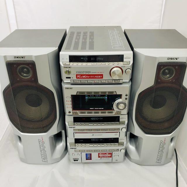 ★1円~★SONY ソニー DHC-MD777 システムコンポ STR-MD777 HMC-MD777 ペアスピーカー/SS-MD777 5CD 5MD 通電確認済
