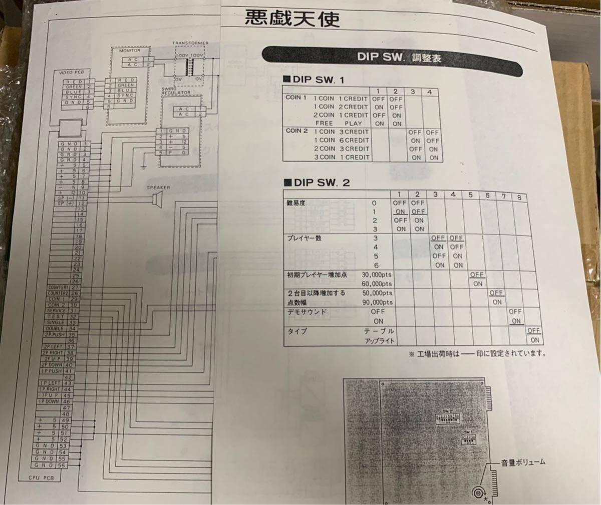 悪戯天使 いたずらてんし ITAZURA TENSHI ニチブツ 日本物産  アーケード ゲーム 基板 1円スタート 売切り インスト ハーネス _画像8