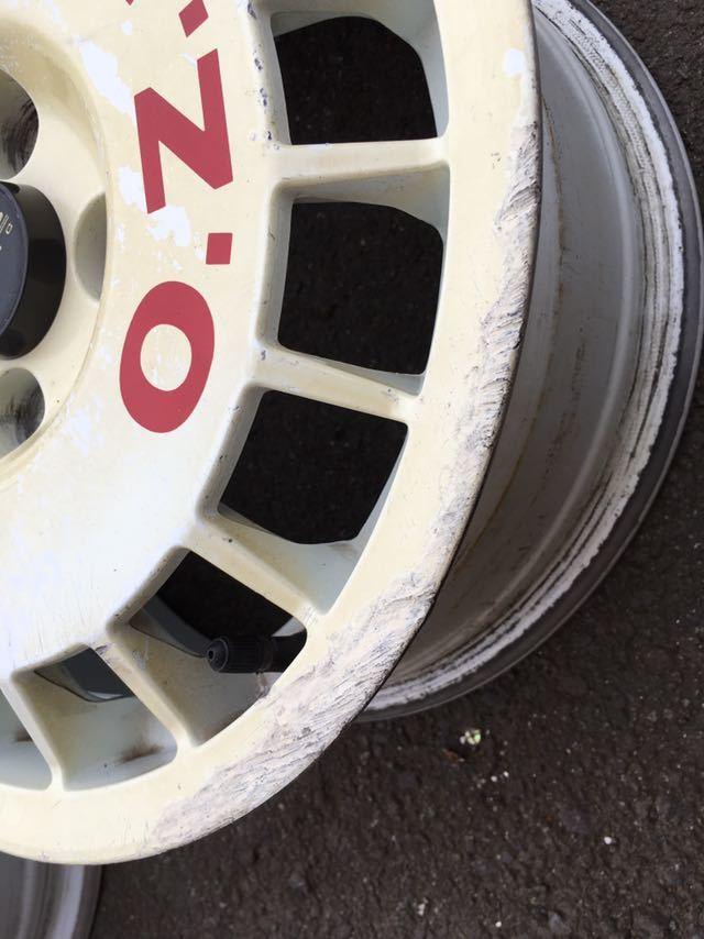 当時物 希少 o.z racing 14インチ 6J PCD100 オーゼットレーシング ラリーホイール ビッツ マーチ セリカ スターレット_画像4