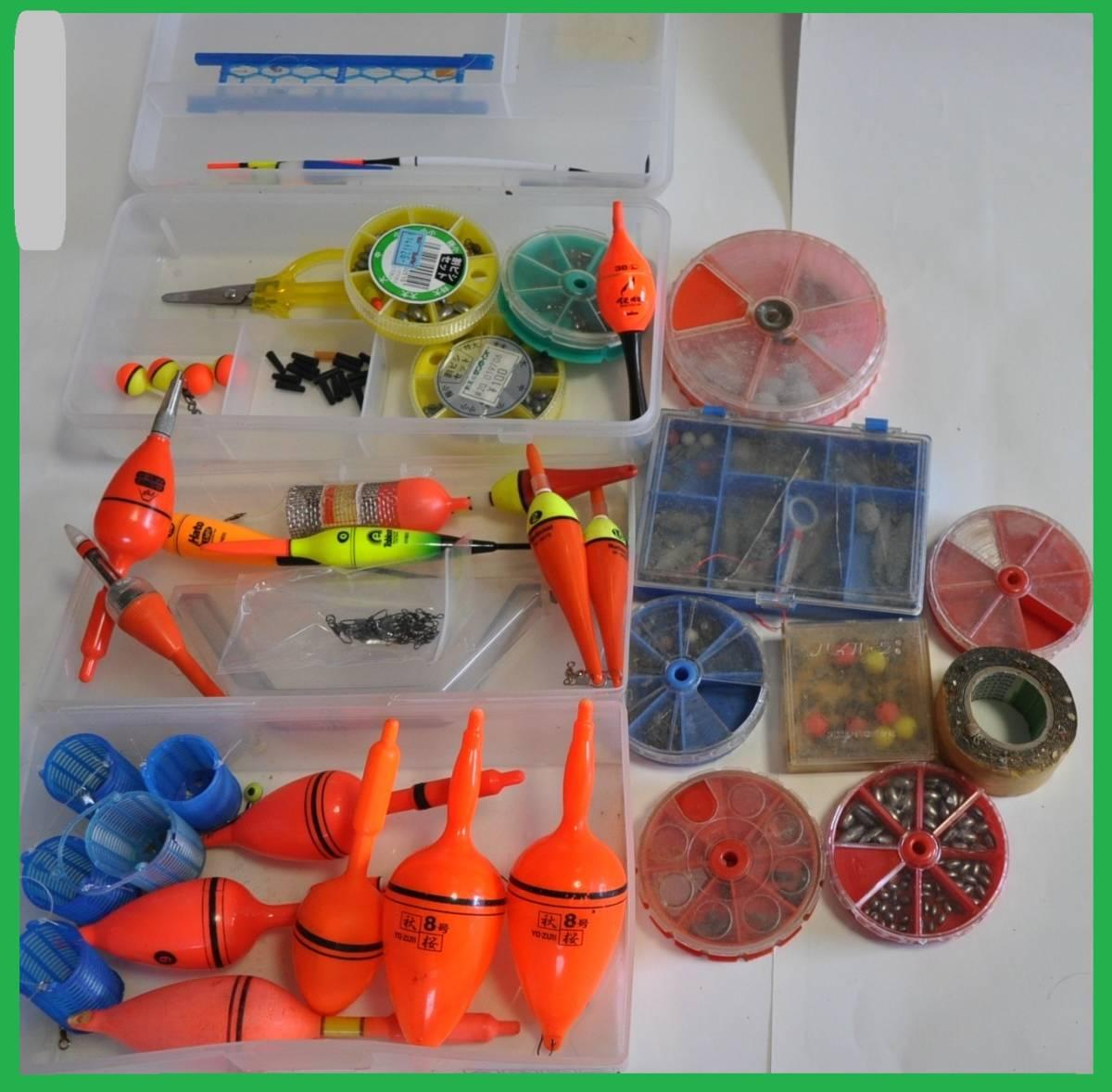 大量 釣り道具 浮き、針、錘、他小物など色々まとめてセット!_画像5