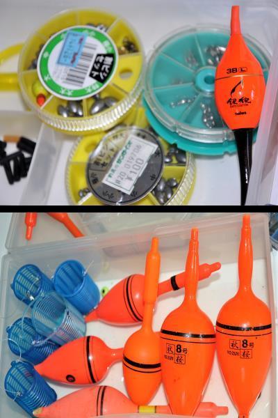 大量 釣り道具 浮き、針、錘、他小物など色々まとめてセット!_画像6