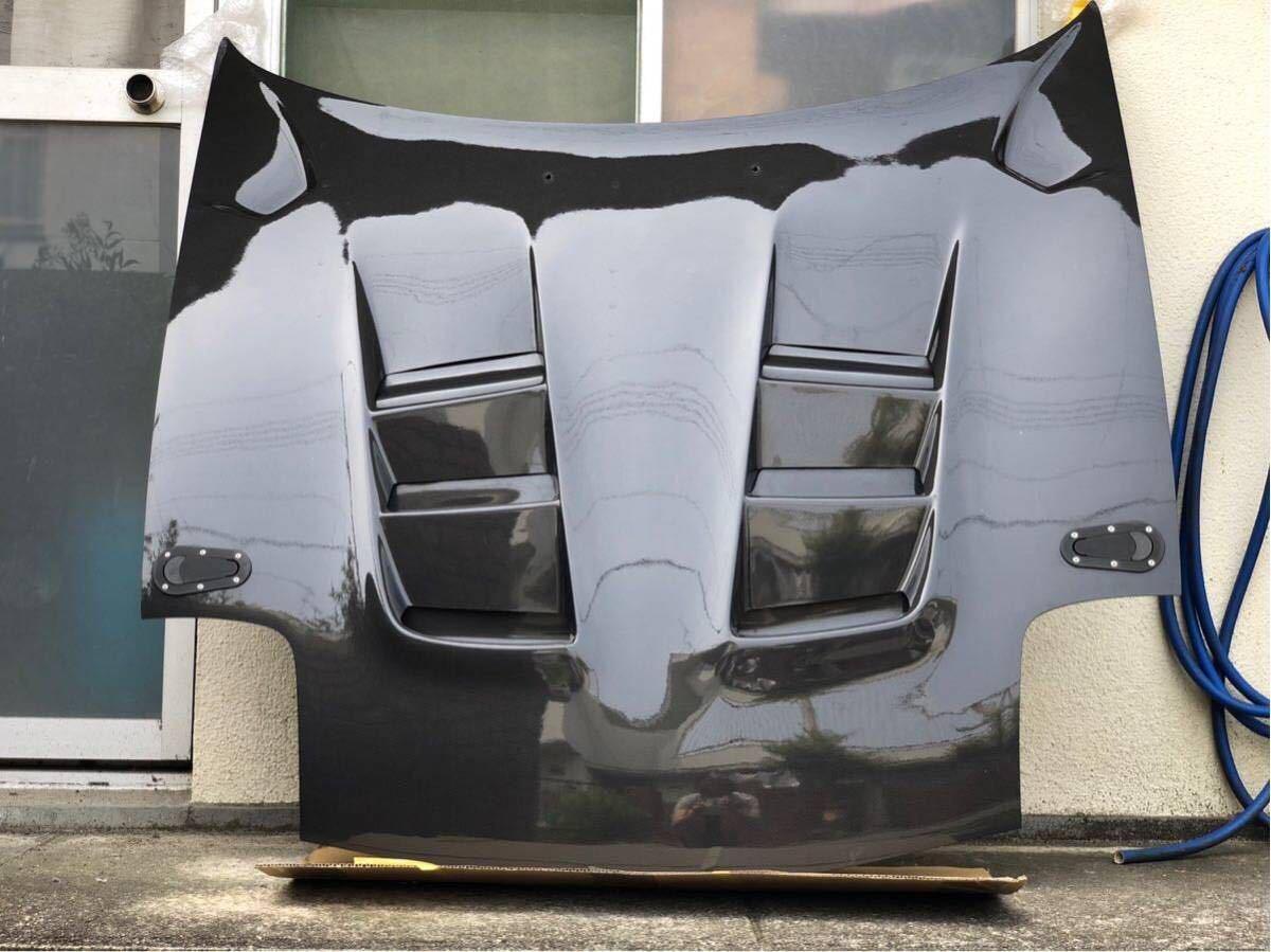 【美品】RX-7 RE雨宮製 カーボンボンネット 雨避けカバー付き ボンピン付き FD3S AD HOOD 9 Carbon