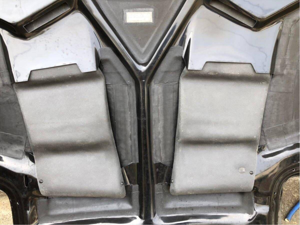 【美品】RX-7 RE雨宮製 カーボンボンネット 雨避けカバー付き ボンピン付き FD3S AD HOOD 9 Carbon_画像5