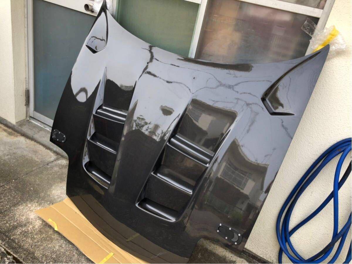 【美品】RX-7 RE雨宮製 カーボンボンネット 雨避けカバー付き ボンピン付き FD3S AD HOOD 9 Carbon_画像2