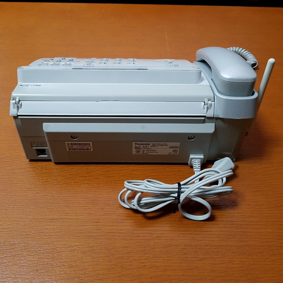 元箱入り 美品 Panasonic KX-PW211DL-S パナソニック パーソナルファックス おたっくす 電話機 親機_画像5