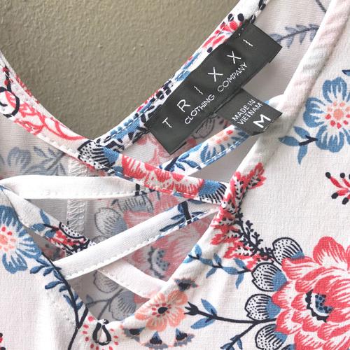 TRIXXI エスニック柄 ノースリーブワンピース 海外買い付け品 アウトレット品【新品】美品_画像4