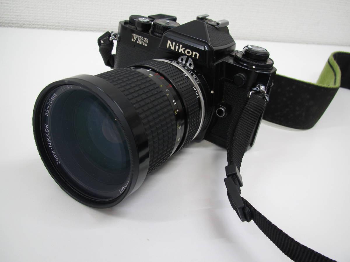 格安スタート!! カメラ ニコン Nikon FE2 ブラック シャッター○ ジャンク 6-9