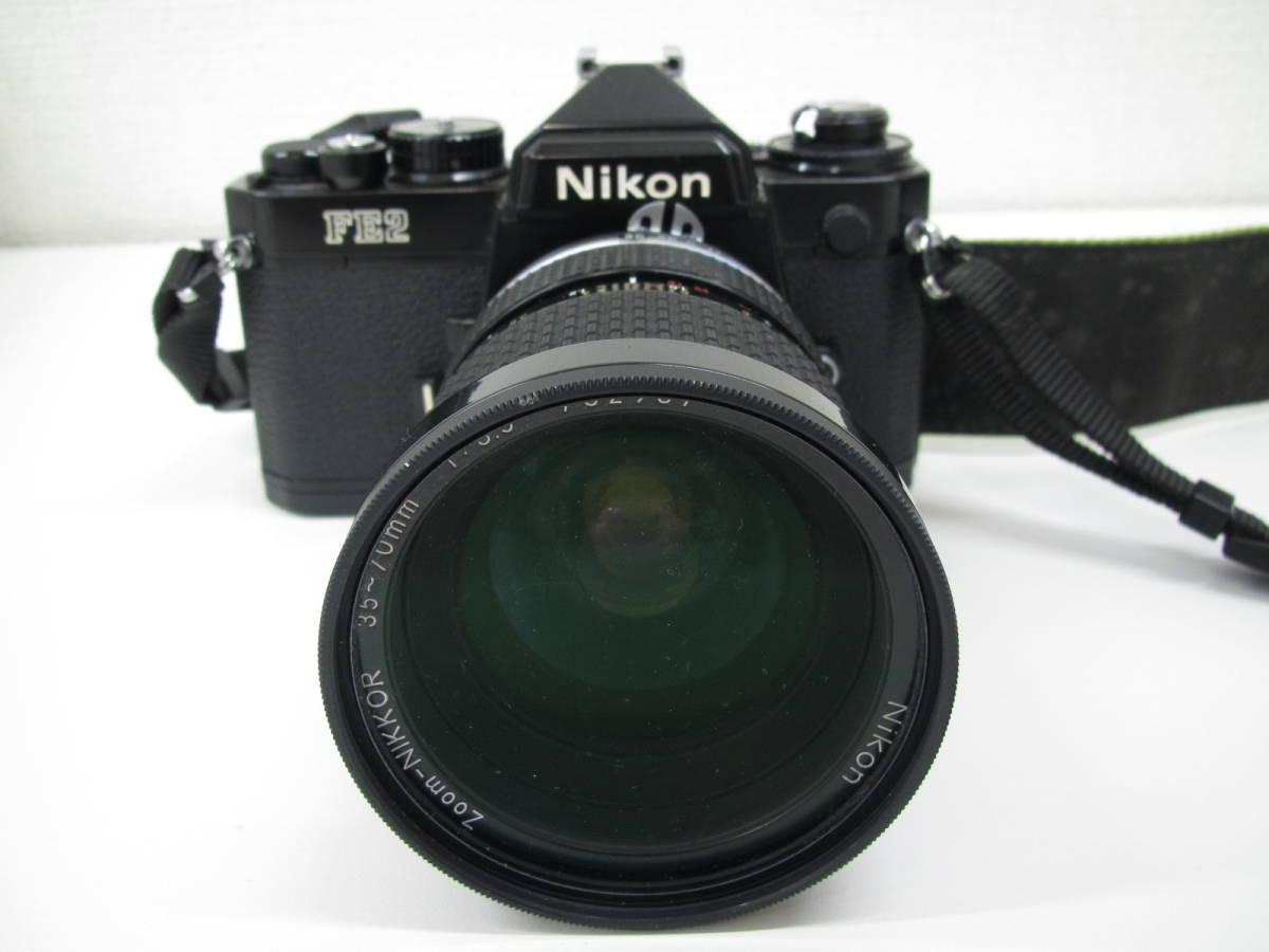 格安スタート!! カメラ ニコン Nikon FE2 ブラック シャッター○ ジャンク 6-9_画像2