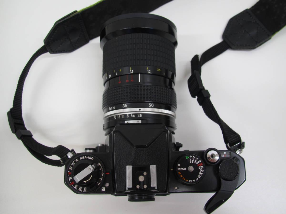 格安スタート!! カメラ ニコン Nikon FE2 ブラック シャッター○ ジャンク 6-9_画像5