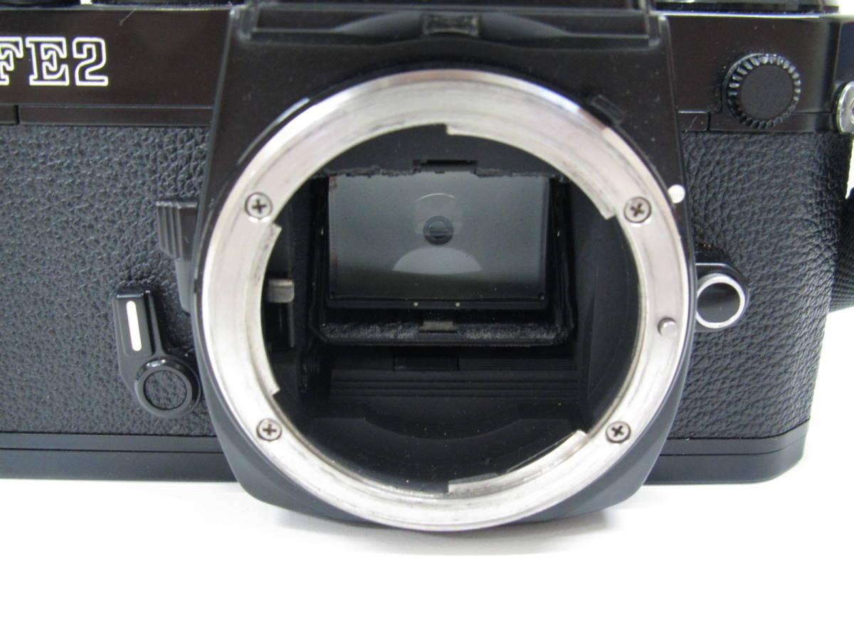 格安スタート!! カメラ ニコン Nikon FE2 ブラック シャッター○ ジャンク 6-9_画像9