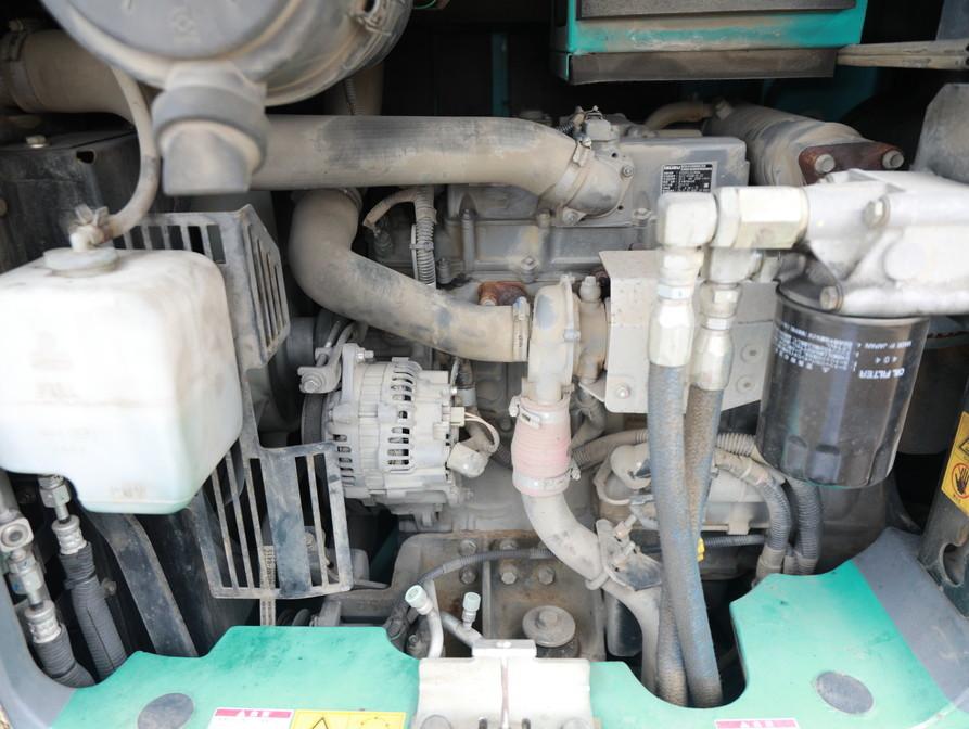 2012年製 コベルコ SK75UR-5 超低騒音型 0.25m3 7トン油圧ショベル 移動式クレーン仕様 マルチレバー付 キャビン エアコン_画像9