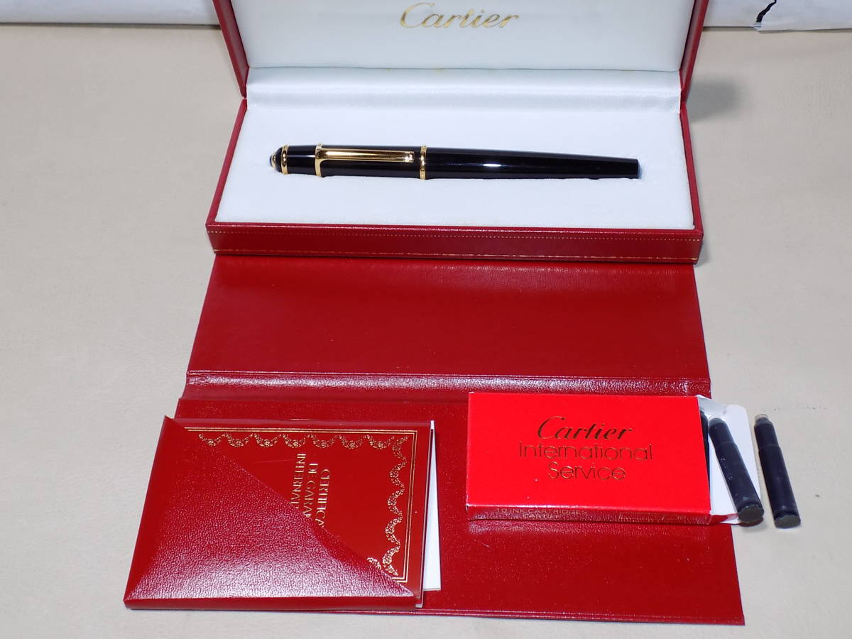 """未使用""""Cartier カルティエ 18金ペン先ディアボロ万年筆"""""""