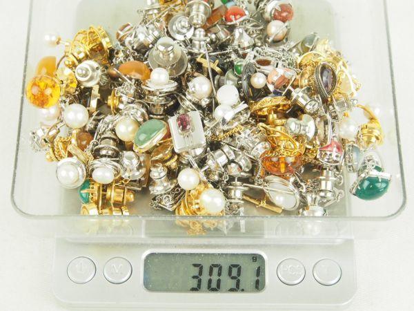 大量セット K18 Pt900 SILVER 珊瑚 真珠 べっ甲 等 色石色々 タイピン 約300g まとめて シルバー_画像10