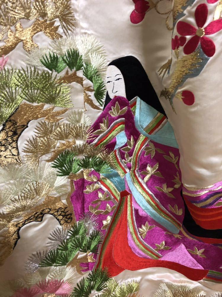 【花嫁用打掛】結婚式/お色直し/和装/振袖/花嫁/白銀十二単/色打掛_画像4