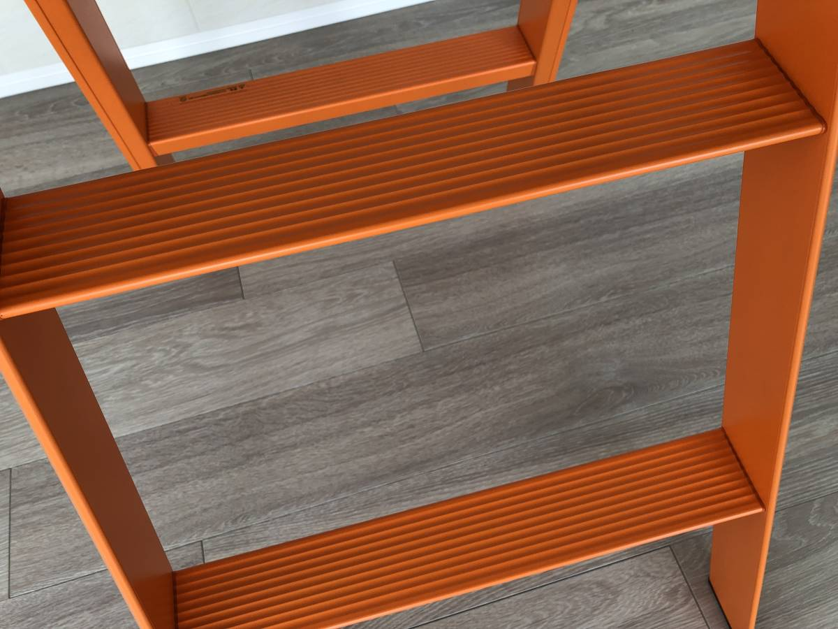 [札幌引取り限定] 美品 lucano スリーステップ 踏台 脚立 3step stool オレンジ 踏み台 定価2万円 デザイナーズ家具 3ステップ_画像10