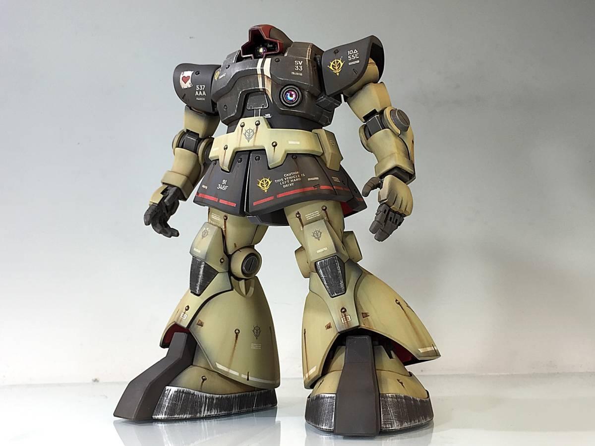 【MG 1/100 MS-09 ドム 残党サンドカラー 戦場風 改修塗装完成品】_画像2