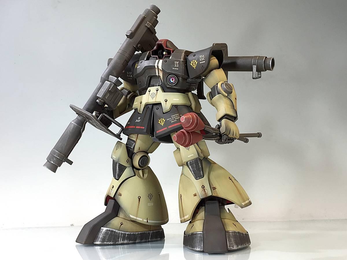 【MG 1/100 MS-09 ドム 残党サンドカラー 戦場風 改修塗装完成品】_画像7