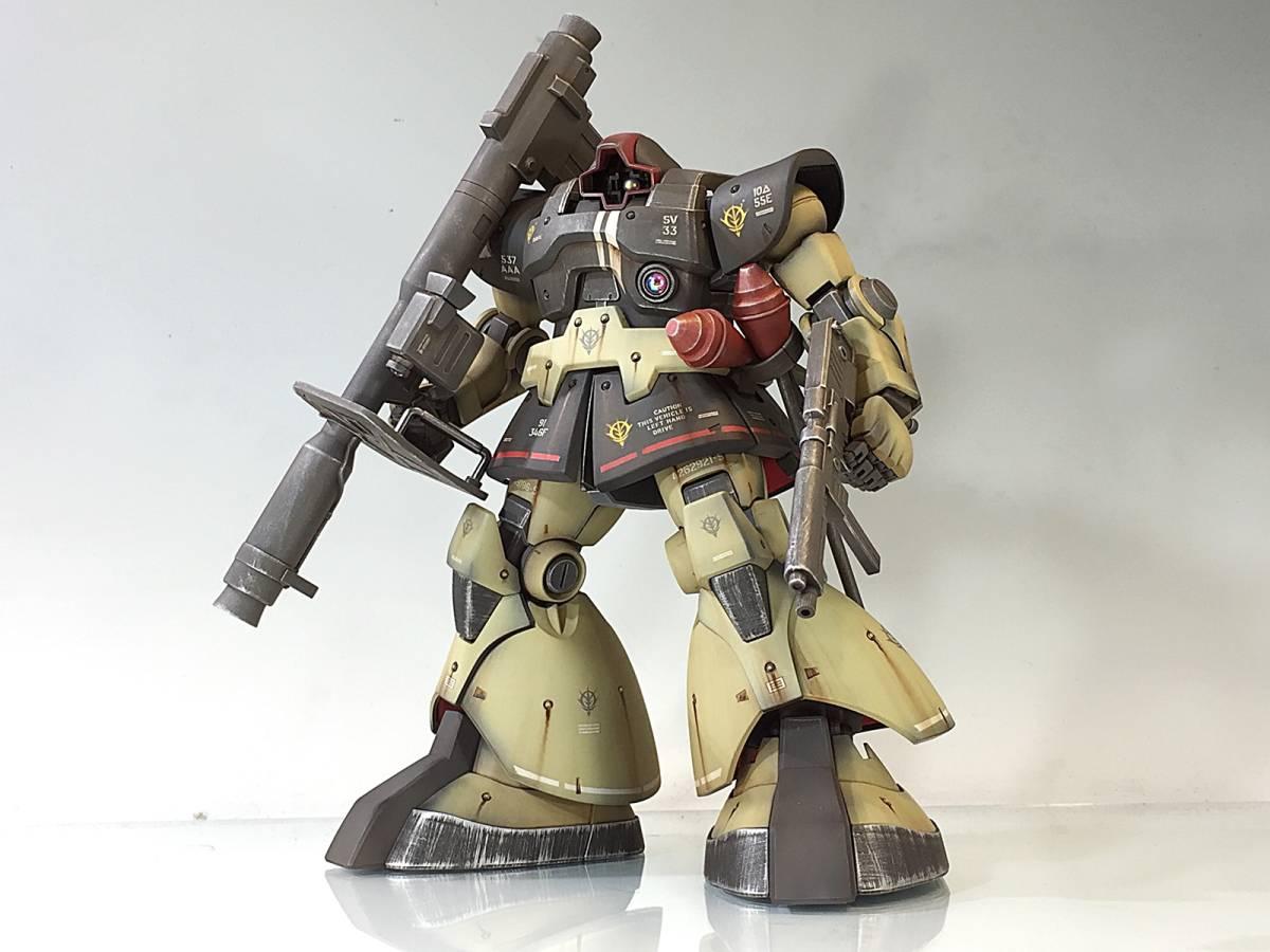 【MG 1/100 MS-09 ドム 残党サンドカラー 戦場風 改修塗装完成品】_画像6