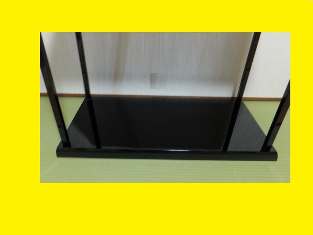 ◆茶道具◆特価わけあり 極美品 木製 真台子 真塗 塗師平安 淨白作 棚 木共箱_画像4