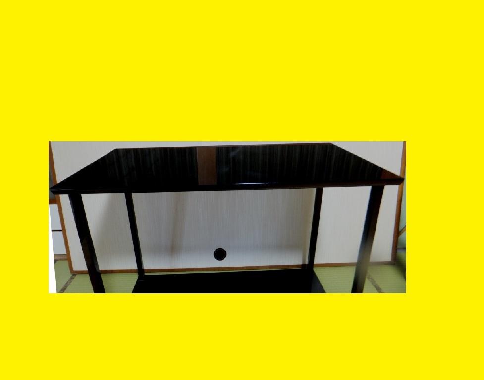 ◆茶道具◆特価わけあり 極美品 木製 真台子 真塗 塗師平安 淨白作 棚 木共箱_画像3