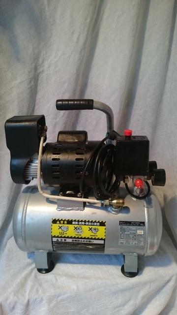 稼働品 10L オイルレス エアコンプレッサー ACP-190KD 静音タイプ エアーツール DIY_画像3