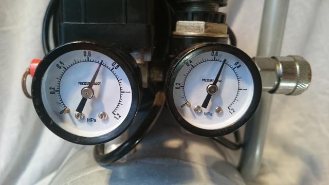 稼働品 10L オイルレス エアコンプレッサー ACP-190KD 静音タイプ エアーツール DIY_画像10