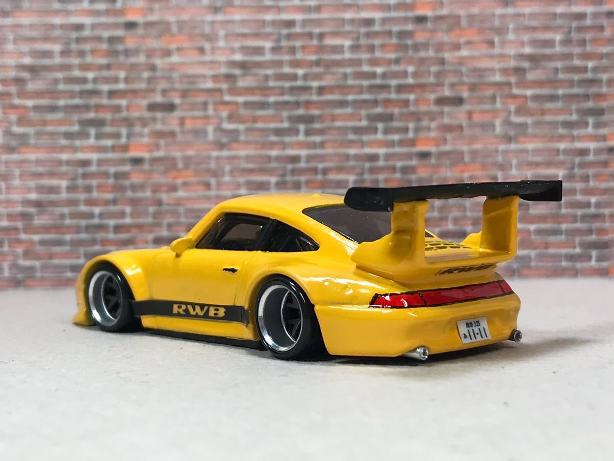 ★ ホットウィール RWB ポルシェ 911 GT2 カスタム 深リム_画像6