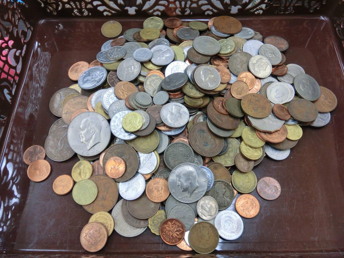 ♪1円~外国銭・外国古銭おまとめ 大量いろいろ 2000g超