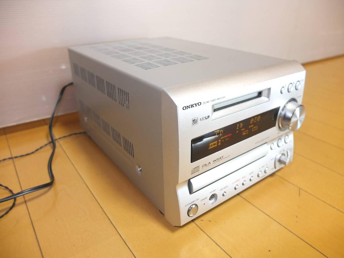 ONKYO/オンキョー FR-7GX CD/MD.チューナー.アンプ リモコン付 動作OK(MDLP対応)_画像2
