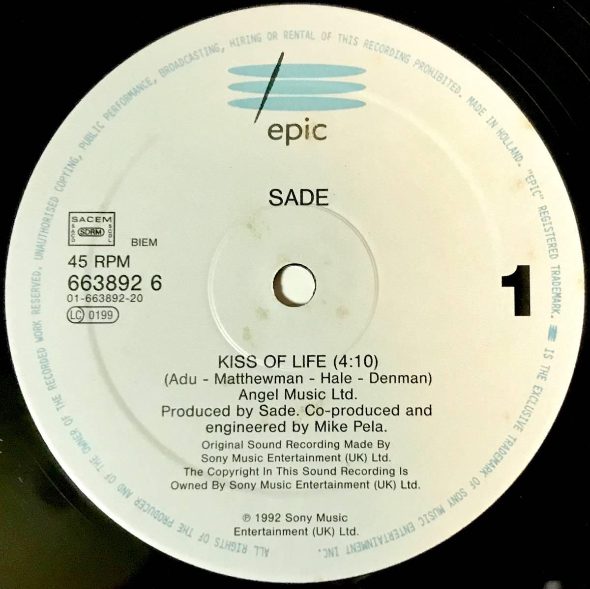 【R&B】【SOUL】SADE//KISS OF LIFE//6638926//12INCH VINYL/UK/LOFT_画像3