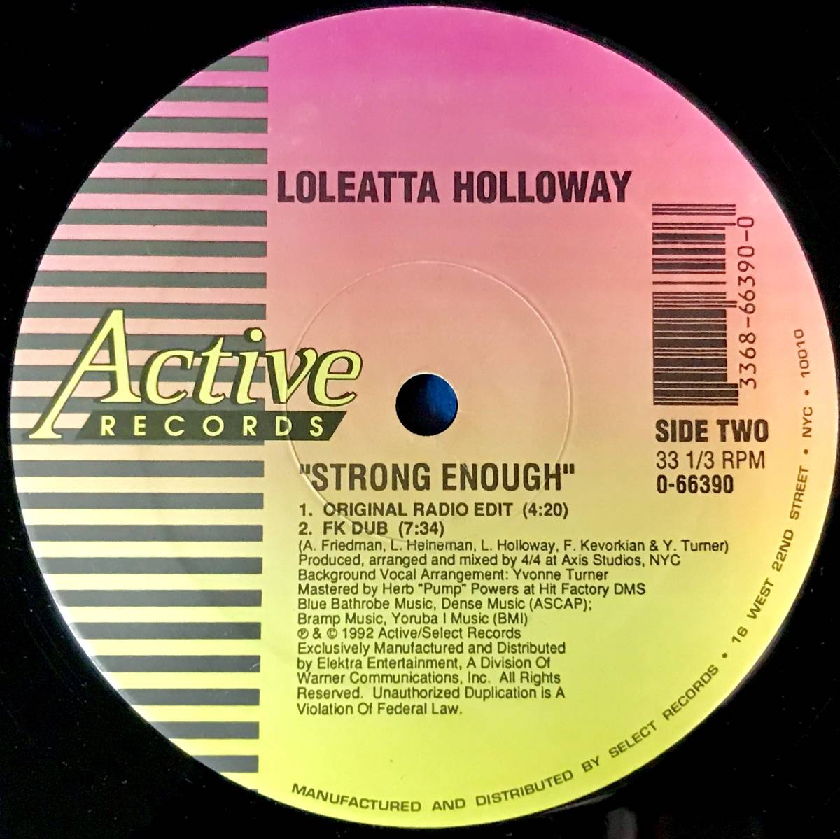 【HOUSE】LOLEATTA HOLLOWAY//STRONG ENOUGH//0-66390//12INCH VINYL/US/FRANCOIS KEVORKIAN/LARRY LEVAN/LOFT/GARAGE_画像3