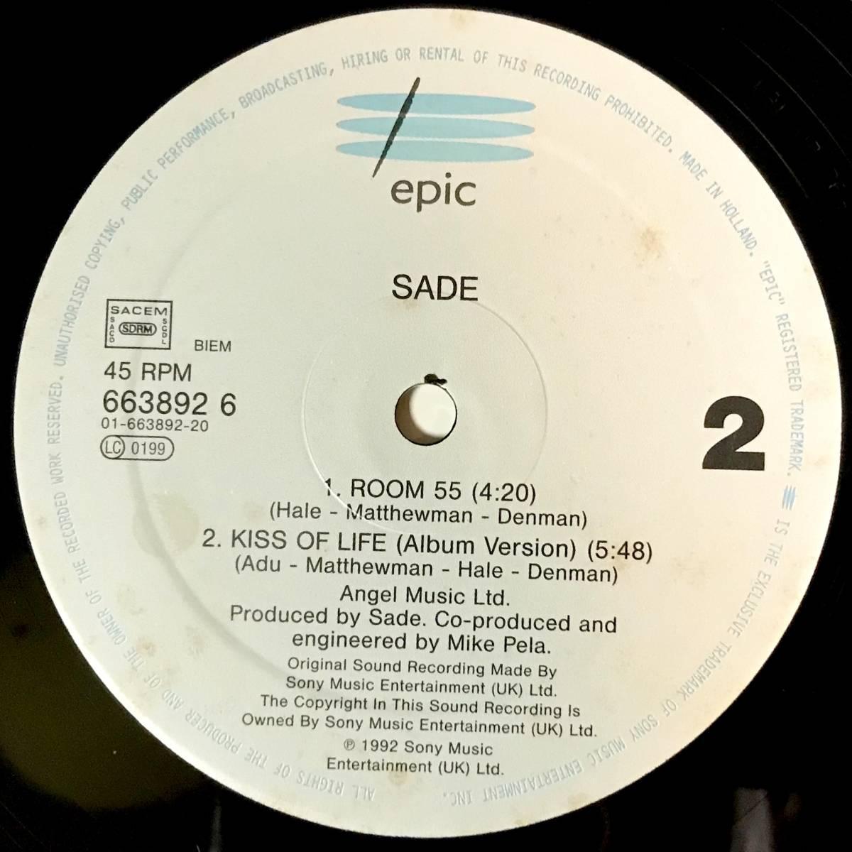 【R&B】【SOUL】SADE//KISS OF LIFE//6638926//12INCH VINYL/UK/LOFT_画像4
