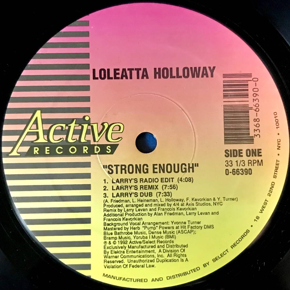 【HOUSE】LOLEATTA HOLLOWAY//STRONG ENOUGH//0-66390//12INCH VINYL/US/FRANCOIS KEVORKIAN/LARRY LEVAN/LOFT/GARAGE_画像2