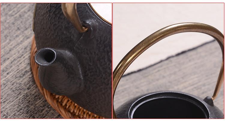 新品 目玉 南部鉄器 HwaGui G-TY 霰・黒 (1.2Lパ-ル) 鉄瓶 1200ml 鉄器 急須 おしゃれ ih 対応 鉄やかん 鉄分補給 鉄びん16_画像8