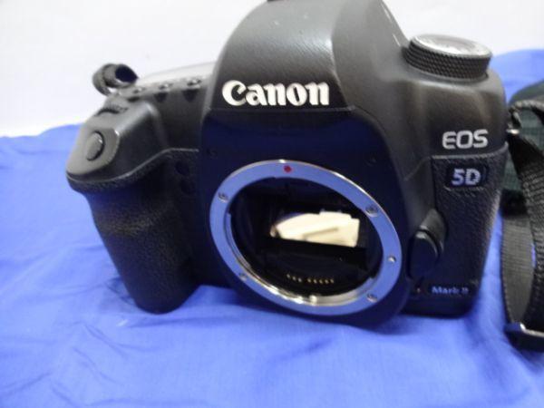 099【中古】Canon キヤノン EOS 5D Mark II Mark 2 EF 28-105mm 1:3.5-4.5 Ⅱ バッテリー3個付き 3026_画像2