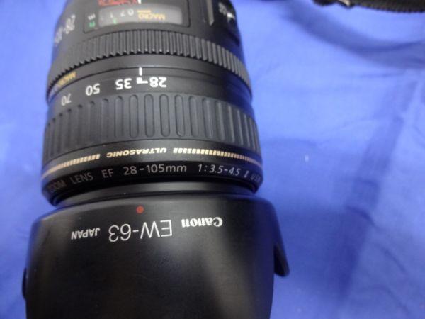 099【中古】Canon キヤノン EOS 5D Mark II Mark 2 EF 28-105mm 1:3.5-4.5 Ⅱ バッテリー3個付き 3026_画像7