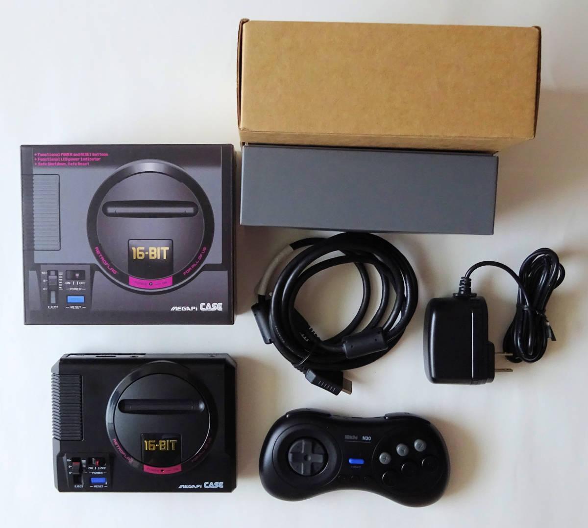 [新品] SEGA RETROPIE メガドライブミニ エミュレータ 本体 + コントローラ + ACアダプター + ビデオケーブル _画像5