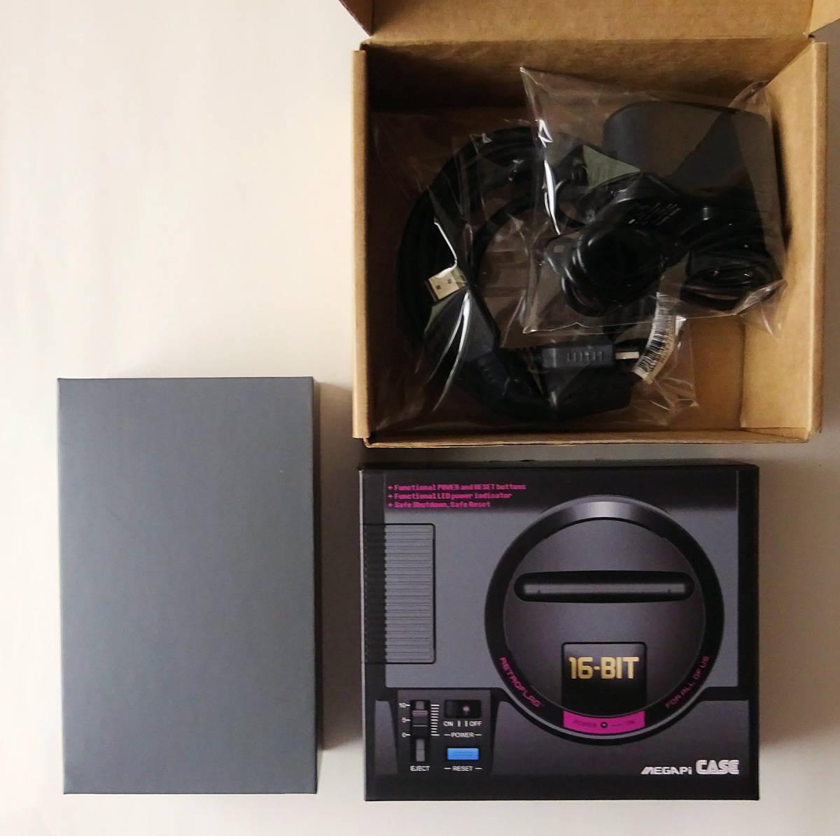 [新品] SEGA RETROPIE メガドライブミニ エミュレータ 本体 + コントローラ + ACアダプター + ビデオケーブル _画像2