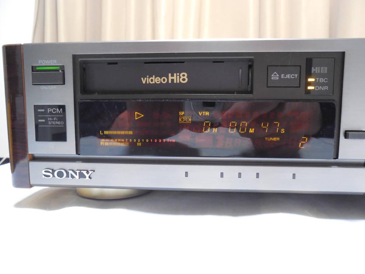 SONY ソニー Hi8 8mmビデオデッキ EV-BS3000 中古ジャンク品です。_画像2