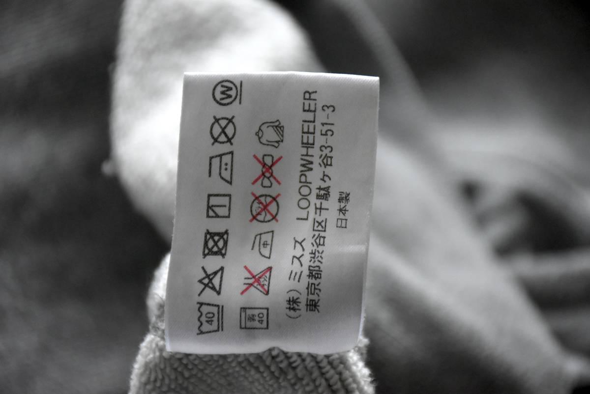 希少 良品 ループウィラー LOOPWHEELER Vガゼット 霜降りグレー スウェット プルオーバー L 無地 胸ポケット コットン 日本製_画像4