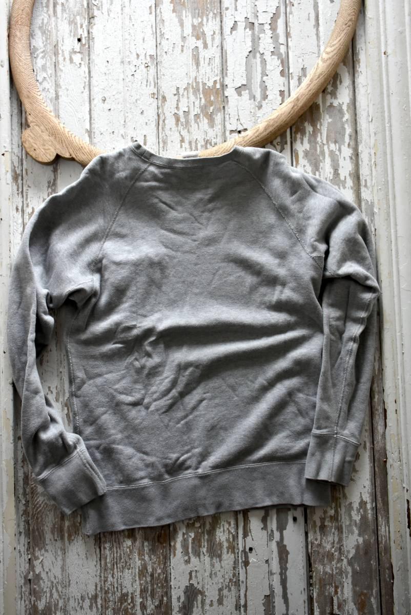 希少 良品 ループウィラー LOOPWHEELER Vガゼット 霜降りグレー スウェット プルオーバー L 無地 胸ポケット コットン 日本製_画像5