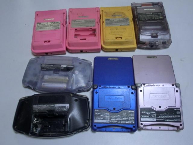 【ゲームボーイ系 本体 まとめセット】 GBカラー&GBポケット&GBA SP&GBA  合計8台セット ジャンク_画像2