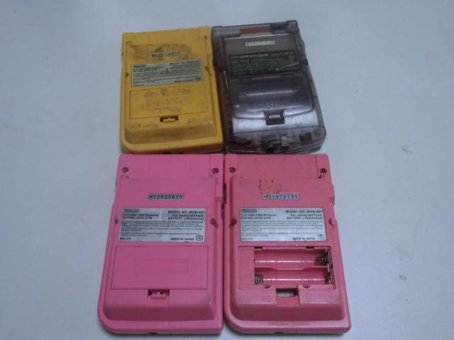 【ゲームボーイ系 本体 まとめセット】 GBカラー&GBポケット&GBA SP&GBA  合計8台セット ジャンク_画像6