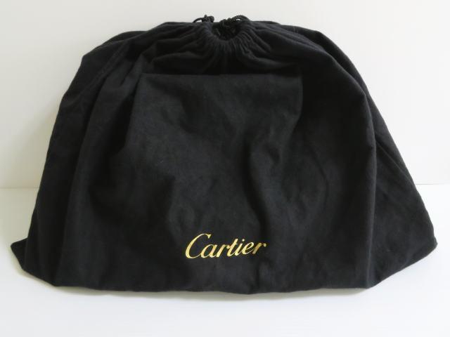 カルティエ  Cartier  ハンドバッグ  ショルダーバッグ  レザー キャンバス  2WAY _画像10