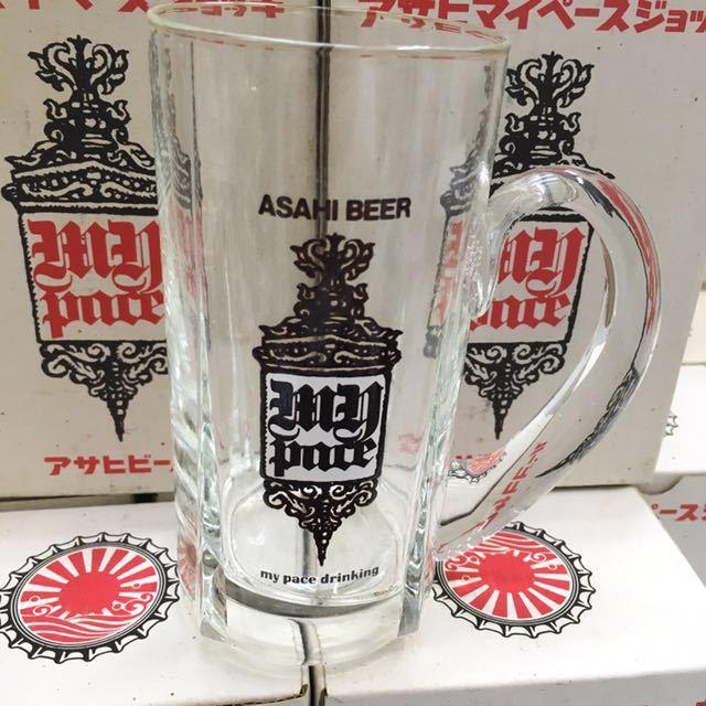 昭和レトロ アサヒ マイペース ジョッキ ビールグラス ヴィンテージ 非売品 24本セット 未使用_画像3