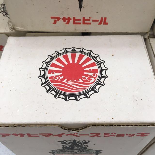 昭和レトロ アサヒ マイペース ジョッキ ビールグラス ヴィンテージ 非売品 24本セット 未使用_画像7